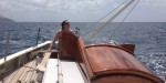 Amy at the helm