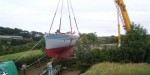 craned out of the workshop